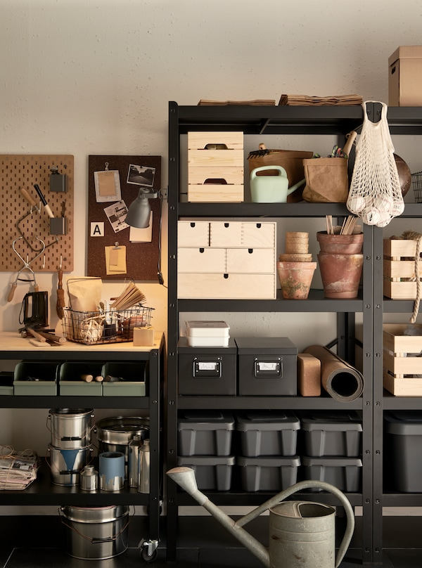 A BROR cabinet filled with miscellaneous items.