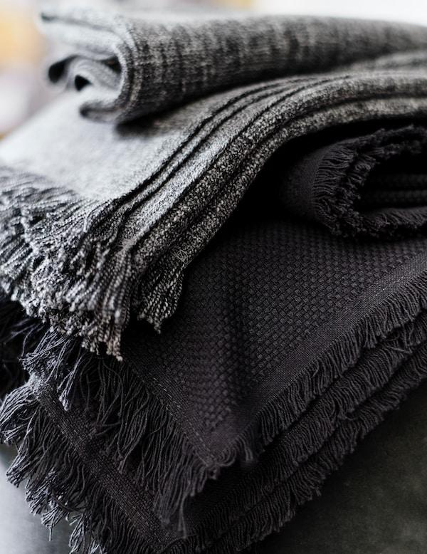 잉룬 담요가 클로즈업된 모습.