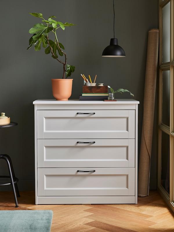 SONGESAND 3-drawer chest, white.