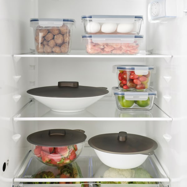 IKEA 365+ square/glass food container with cover.