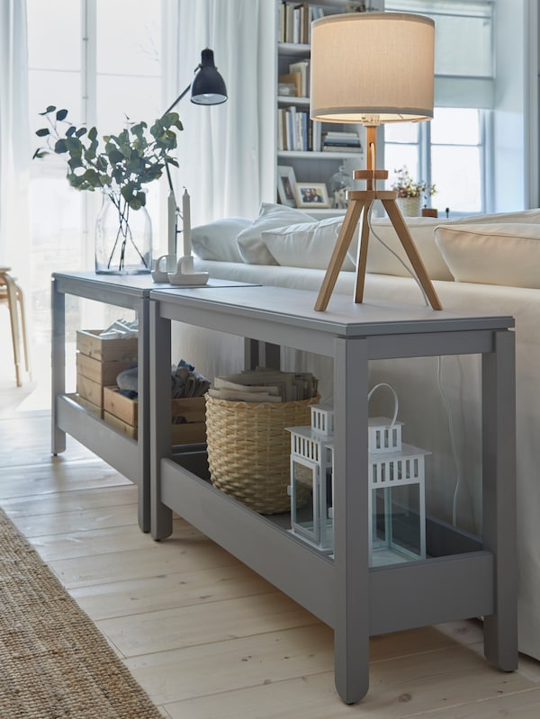 Open storage cabinet console table