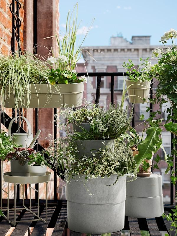 VITLÖK Soporte para plantas, interior exterior beige 38 cm
