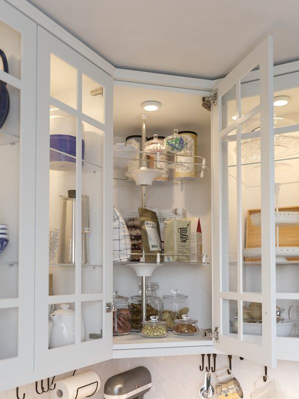 Вращающаяся секция с полками для углового кухонного шкафа