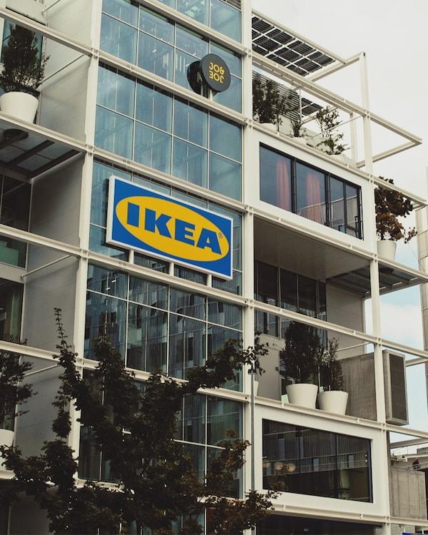 Az új, bécsi IKEA áruház homlokzata.