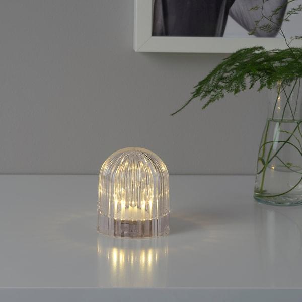AKTIVERAD led-koristevalaisin paristokäyttöinen/läpikuultava 8 cm