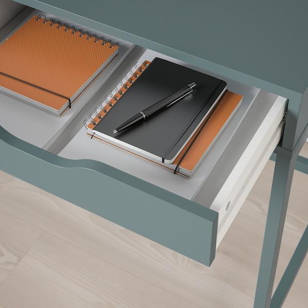 ALEX Työpöytä, harmaanturkoosi, 132x58 cm