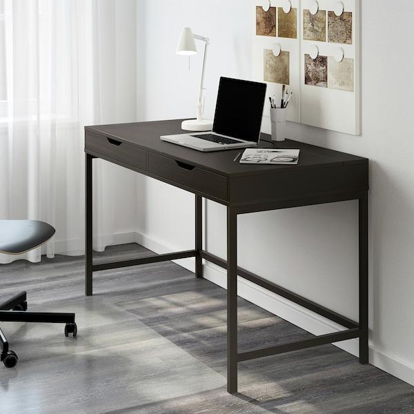 ALEX Työpöytä, mustanruskea, 132x58 cm
