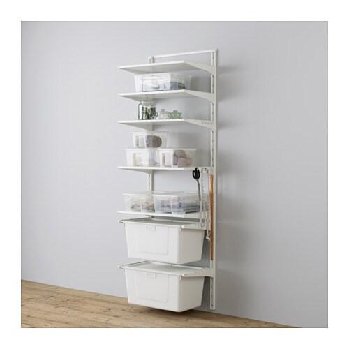 ALGOT Kiinnityskisko hyllyt laatikko  IKEA