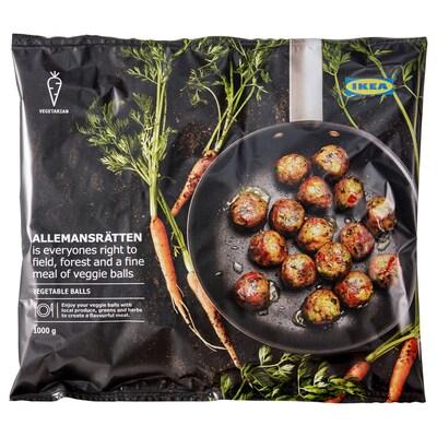 ALLEMANSRÄTTEN kasvispyörykät, pakaste 100 % kasvisruoka 1000 g