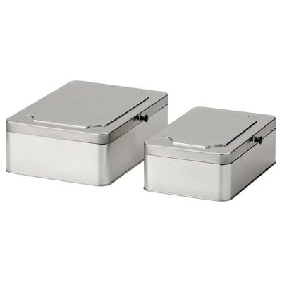 ANILINARE Kannellinen laatikko, 2 kpl, metalli