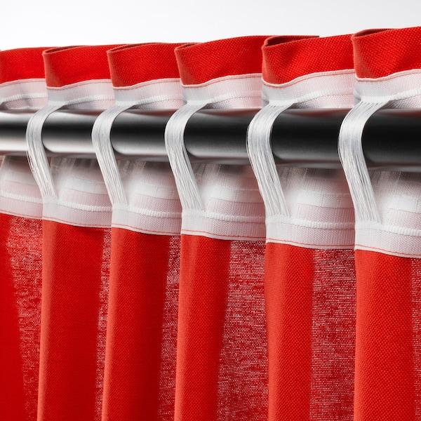 ANNALOUISA Verhot, 2 kpl, punainen, 145x250 cm