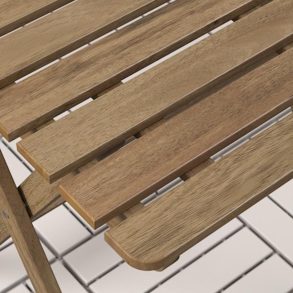 ASKHOLMEN Ulkokalustesetti (pöytä/2 taittotu), harmaanruskeaksi petsattu/Frösön/Duvholmen beige