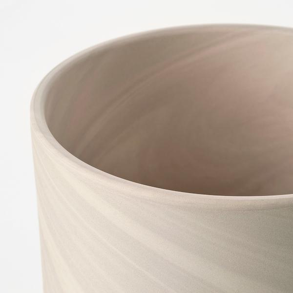 BACKSMULTRON Ruukku, sisä-/ulkokäyttöön beige/harmaa, 15 cm