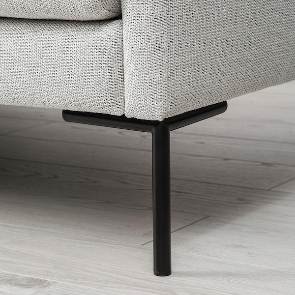 BARKTORP 3:n istuttava sohva, luonnonvalkoinen/pyöreä musta