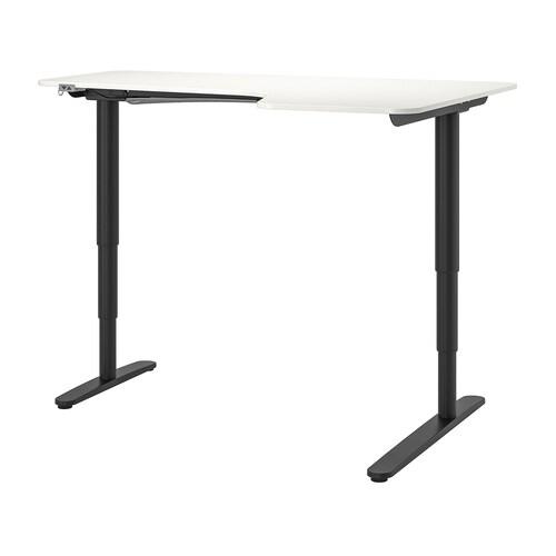 IKEA BEKANT Kulmapöytä oikea, sähkösäädettävä