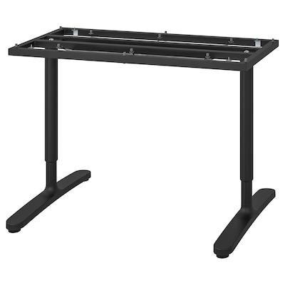 BEKANT Jalusta pöytälevyyn, musta, 120x80 cm