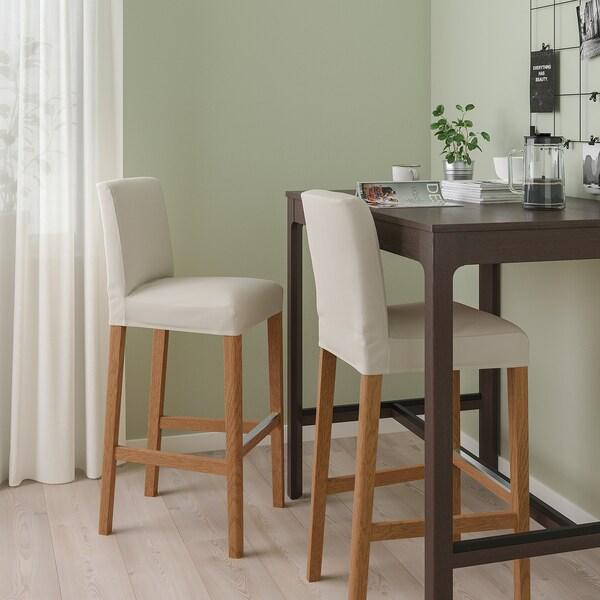 BERGMUND Baarituoli, tammi/Hallarp beige, 75 cm