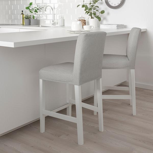 BERGMUND Baarituoli, valkoinen/Orrsta vaaleanharmaa, 62 cm