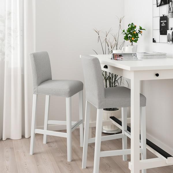 BERGMUND Baarituoli, valkoinen/Orrsta vaaleanharmaa, 75 cm