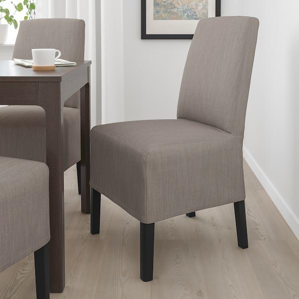 BERGMUND Tuoli ja puolipitkä päällinen, musta/Nolhaga harmaa/beige