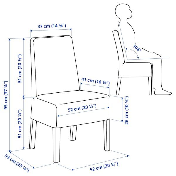 BERGMUND Tuoli ja puolipitkä päällinen, valkoinen/Nolhaga harmaa/beige
