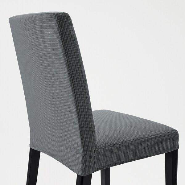 BERGMUND Tuoli, musta/Nykvarn harmaa