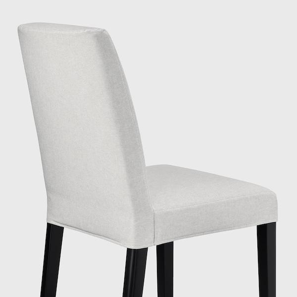 BERGMUND Tuoli, musta/Orrsta vaaleanharmaa