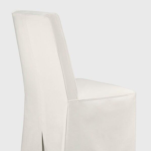 BERGMUND Tuoli+pitkä päällinen, musta/Inseros valkoinen