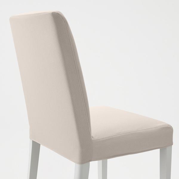 BERGMUND Tuoli, valkoinen/Hallarp beige