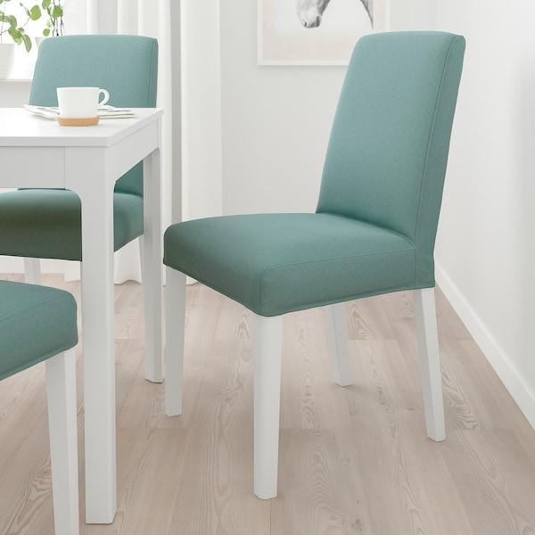 BERGMUND Tuoli, valkoinen/Ljungen vaaleanvihreä