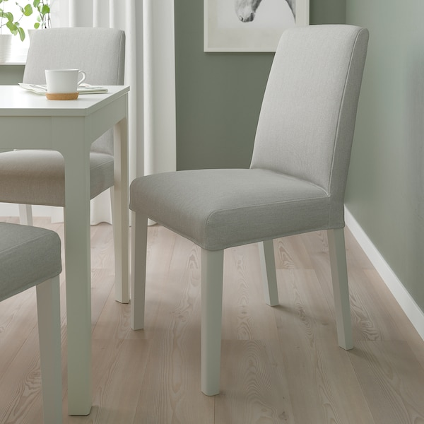 BERGMUND Tuoli, valkoinen/Orrsta vaaleanharmaa