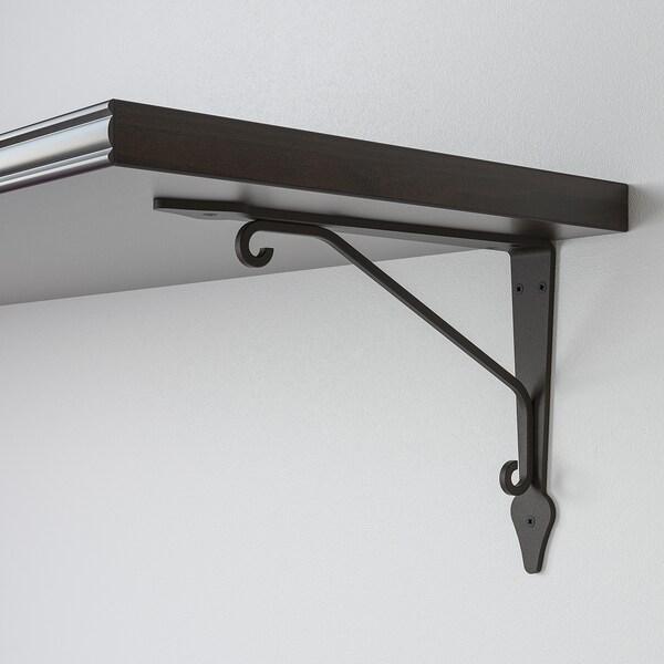 BERGSHULT / KROKSHULT Seinähylly, ruskeanmusta/antrasiitti, 120x30 cm