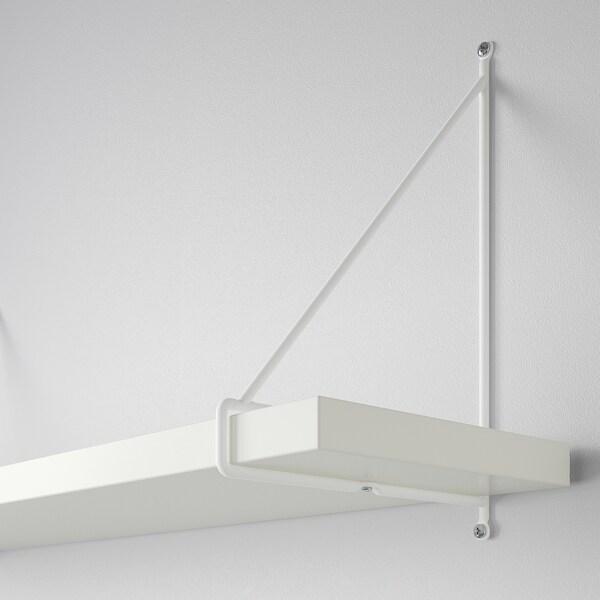 BERGSHULT / PERSHULT seinähylly valkoinen/valkoinen 80 cm 20 cm 2.5 cm 10 kg