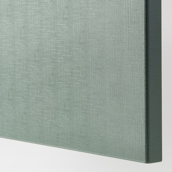 BESTÅ Säilytyskokon+ovet/laatikot, valkoinen/Notviken harmaanvihreä, 120x42x65 cm