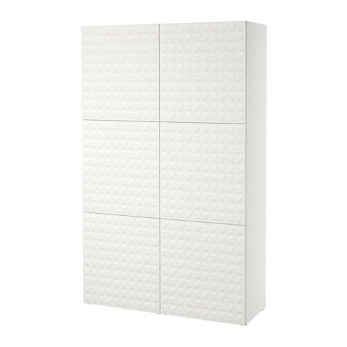 BESTÅ Säilytyskokonaisuus+ovet  Djupviken valkoinen  IKEA