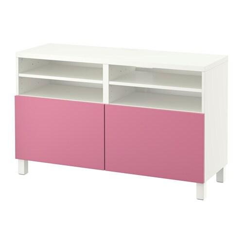 BESTÅ Tv taso ovet  valkoinen Lappviken roosa  IKEA