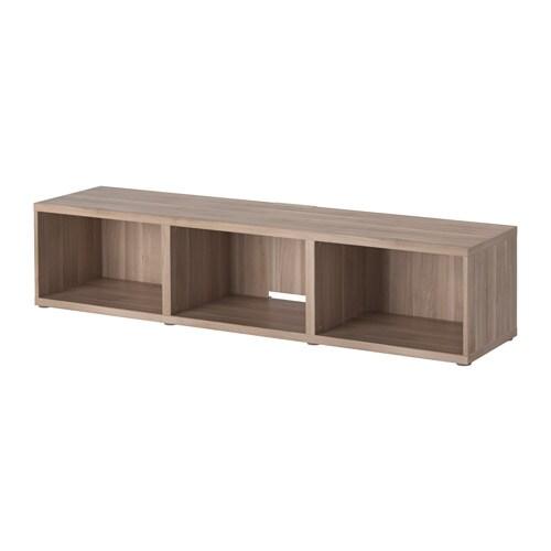 BESTÅ Tv taso  harmaaksi petsattu pähkinäpuukuvio  IKEA