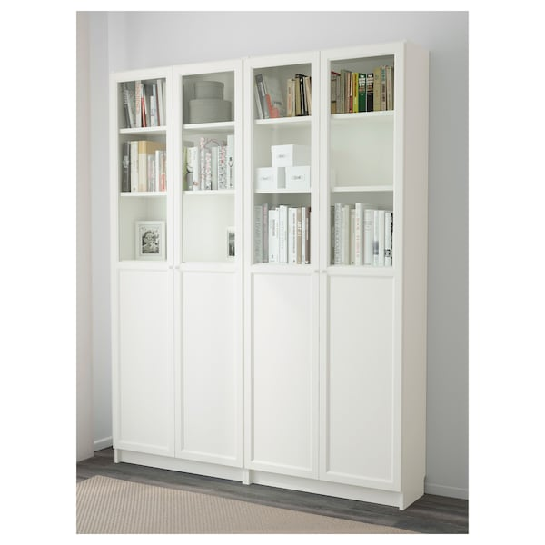 BILLY / OXBERG Kirjahylly, valkoinen, 160x30x202 cm