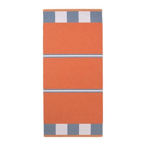 BJÖRKSNÄS Matto, kudottu  käsin tehty punainen  IKEA