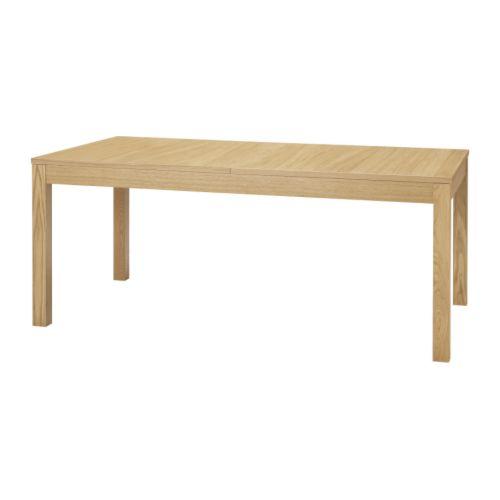 BJURSTA Ruokapöytä, jatkettava  tammiviilu  IKEA