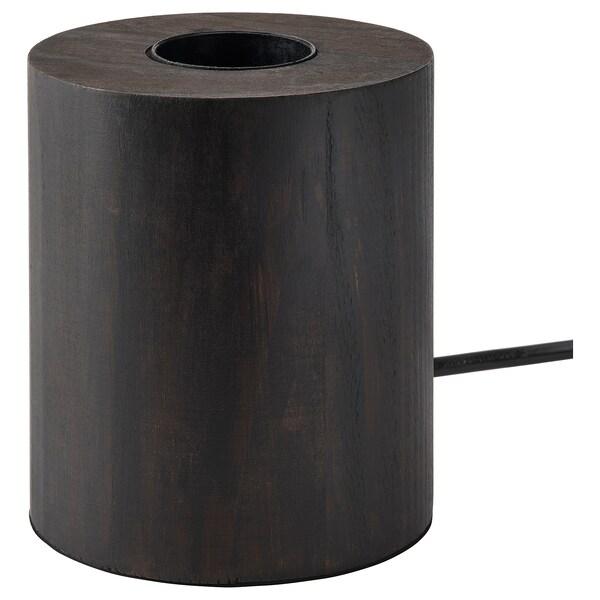 BLEKKLINT Pöytävalaisin, tummanruskea puu, 11 cm
