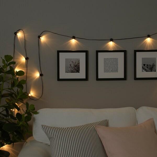 BLÖTSNÖ Led-valosarja, 24 lamppua, sisäkäyttöön musta