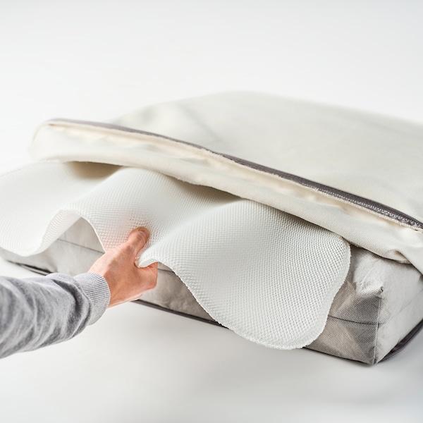 BONDHOLMEN 2:n istuttava sohva ulkokäyttöön, harmaaksi petsattu/Järpön/Duvholmen valkoinen, 139x81x89 cm
