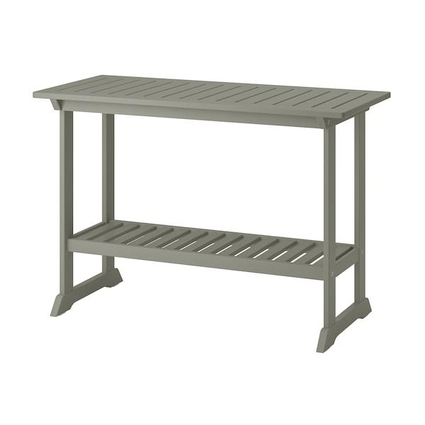 BONDHOLMEN Sivupöytä, ulkokäyttöön, harmaa, 111x46 cm