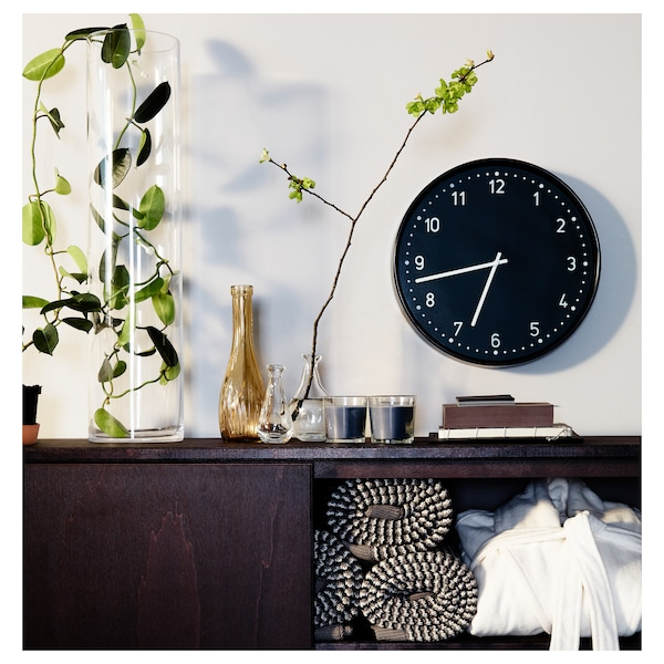 BONDIS seinäkello musta 6 cm 38 cm