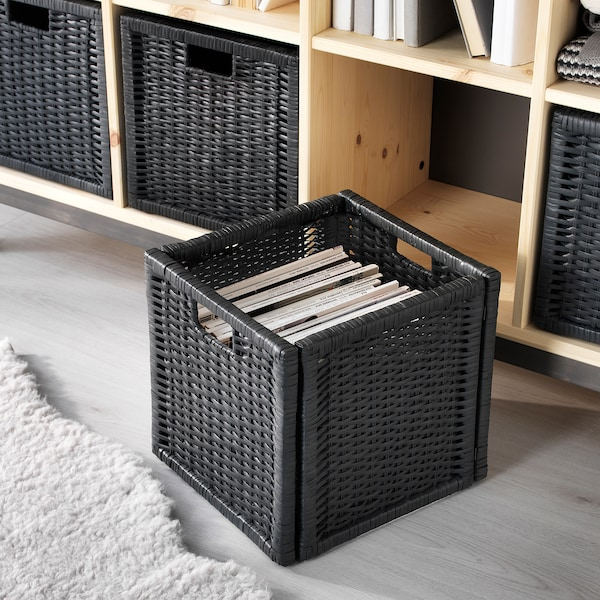 BRANÄS Kori, tummanharmaa, 32x34x32 cm