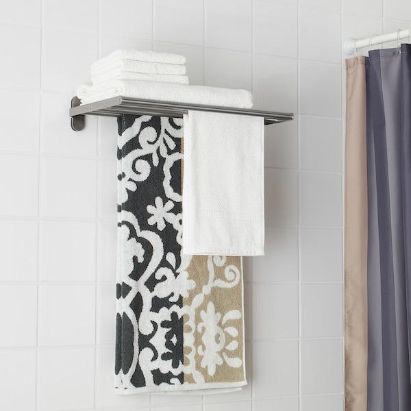 BROGRUND Seinähylly + pyyheteline, ruostumaton teräs, 47x27 cm