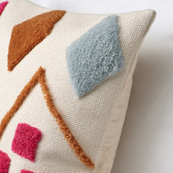BRUNSTARR Tyynynpäällinen, luonnonvärinen/monivärinen, 50x50 cm