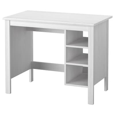BRUSALI työpöytä valkoinen 90 cm 52 cm 73 cm