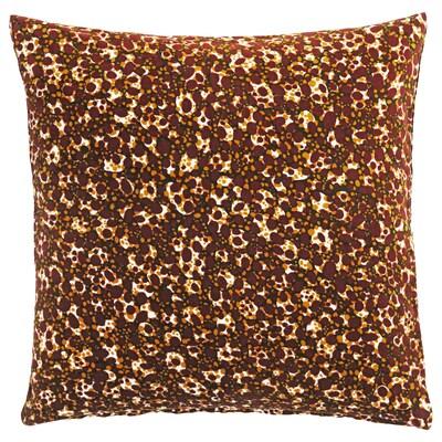 DEKORERA Tyynynpäällinen, pallokuvio viininpunainen, 50x50 cm